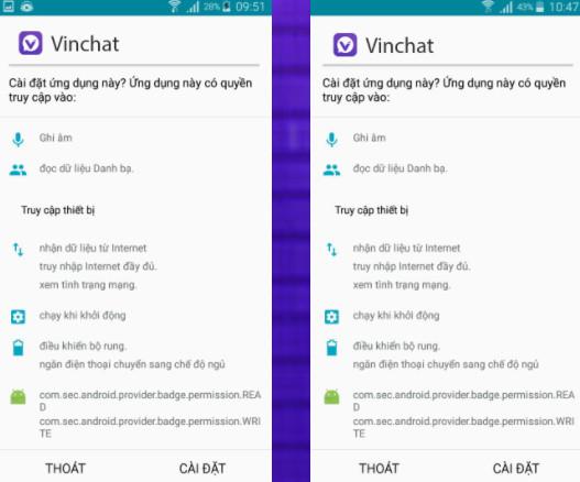 Hình ảnh vinchat app android in Tải vinchat apk - Cập nhật vinchat cho android gắn kết otp